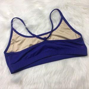 13868db6346ed tonic Intimates   Sleepwear - Tonic Purple Ruffle Trim Sports Bra Large